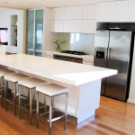 Sleek white modern kitchen by ARTRA, Perth Western Australia